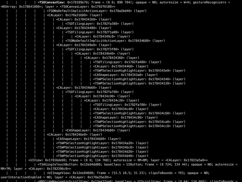 | | | | <TSDCanvasView: 0x170189e70; frame = (0...