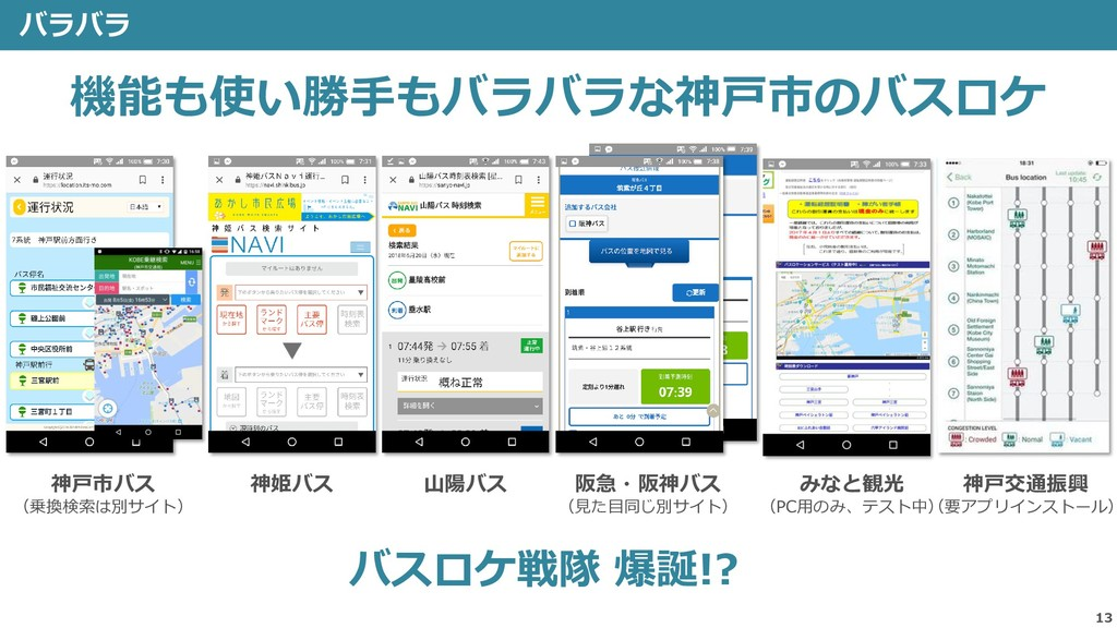 13 バラバラ 乗換検 索 バスロ ケが出 ない 神戸市バス (乗換検索は別サイト) 神姫バス...