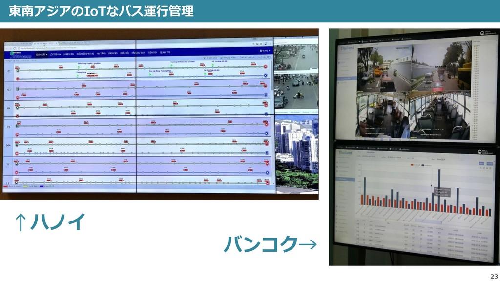 23 東南アジアのIoTなバス運行管理 ↑ハノイ バンコク→
