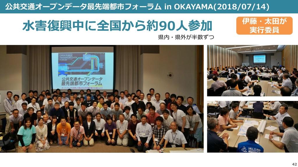 公共交通オープンデータ最先端都市フォーラム in OKAYAMA(2018/07/14) 42...