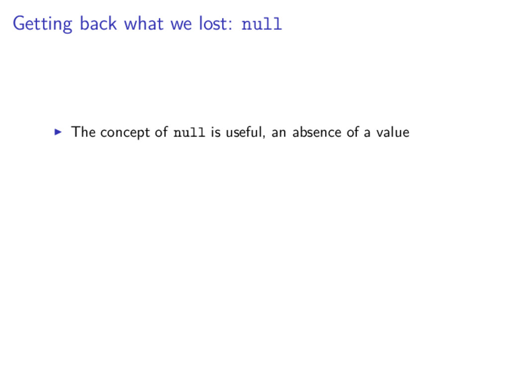 Getting back what we lost: null The concept of ...