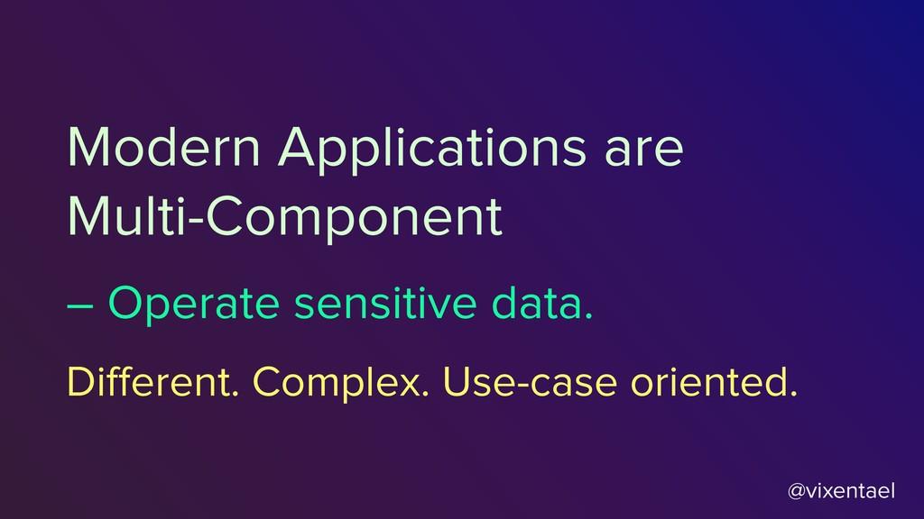 – Operate sensitive data. @vixentael Modern App...