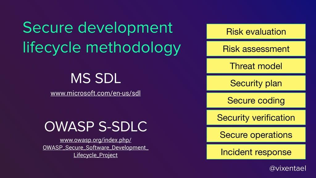 @vixentael Secure development lifecycle methodo...