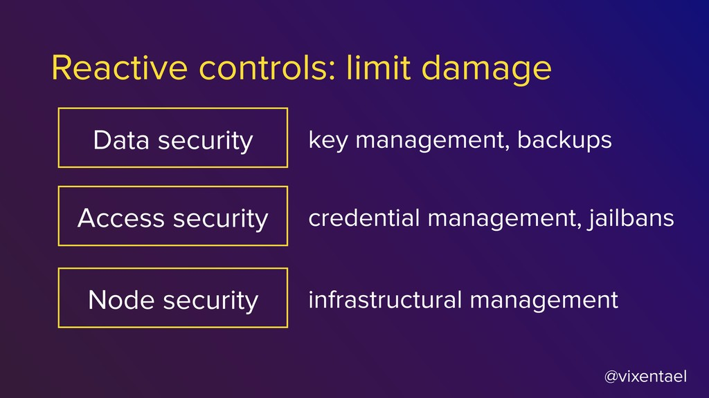 @vixentael Reactive controls: limit damage Data...