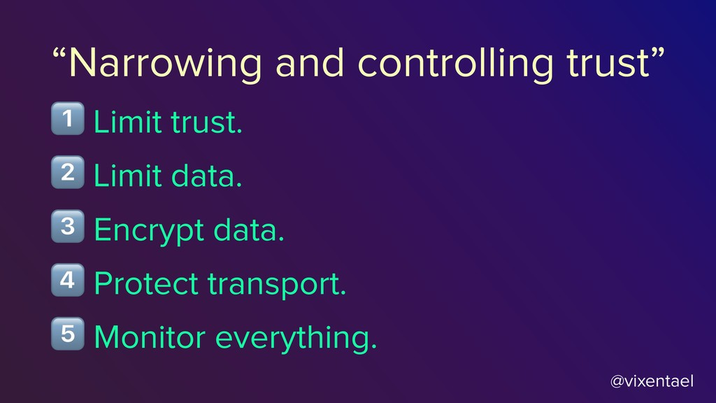 "@vixentael ""Narrowing and controlling trust"" $ ..."