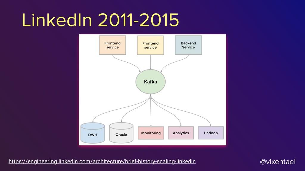 @vixentael LinkedIn 2011-2015 https://engineeri...