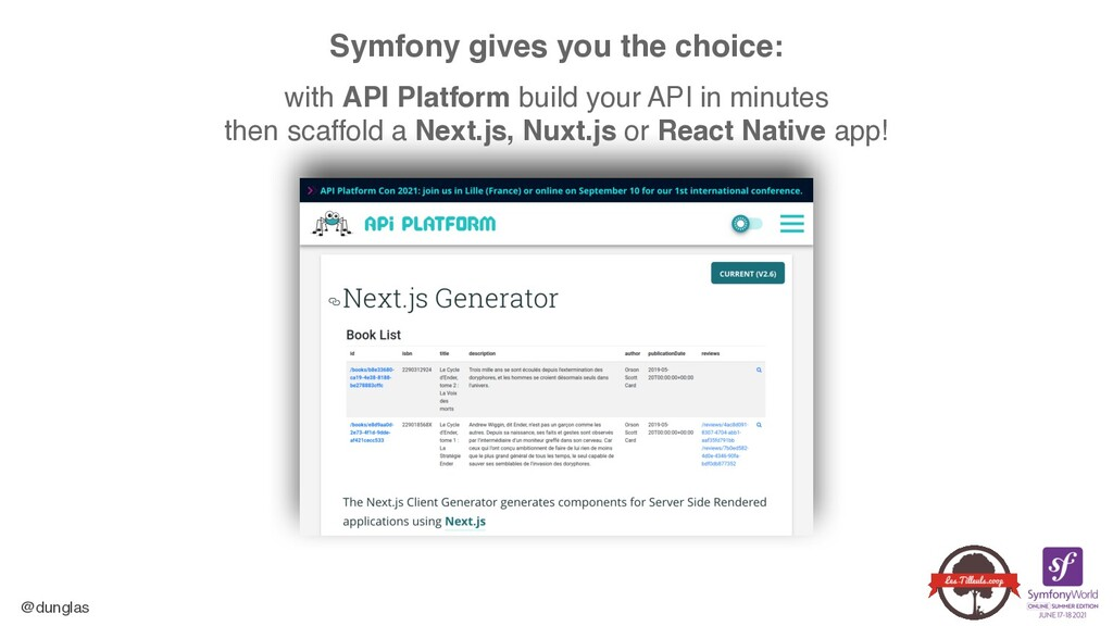 @dunglas Symfony gives you the choice:  with ...