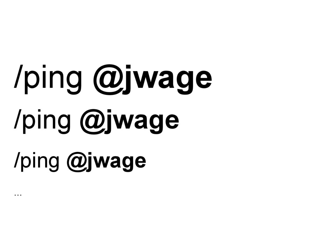 /ping @jwage /ping @jwage /ping @jwage ...
