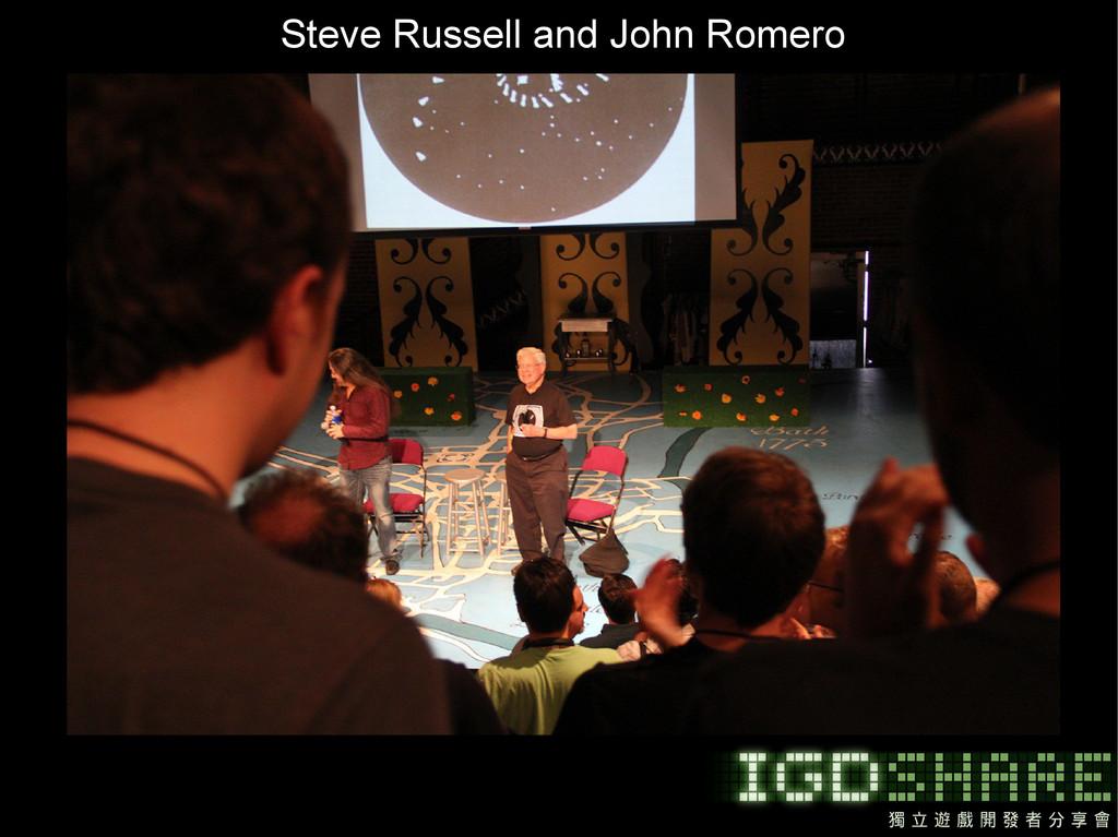 Steve Russell and John Romero
