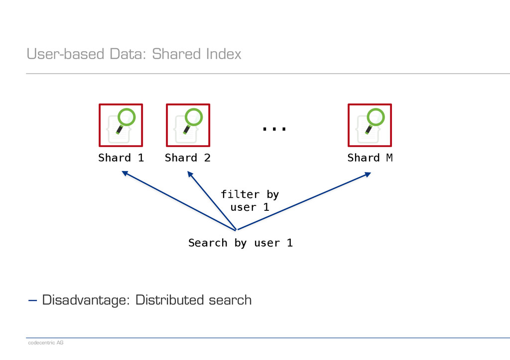 codecentric AG User-based Data: Shared Index Sh...