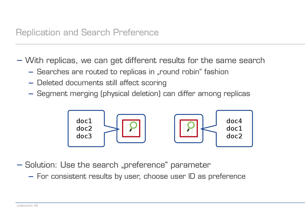 codecentric AG Replication and Search Preferenc...