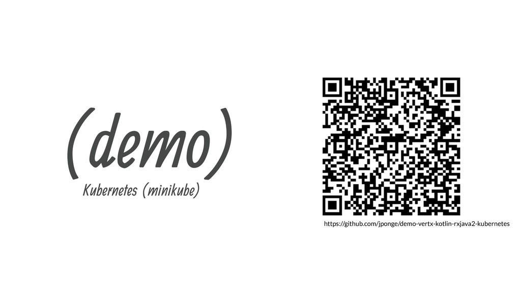 (demo) Kubernetes (minikube) https://github.com...