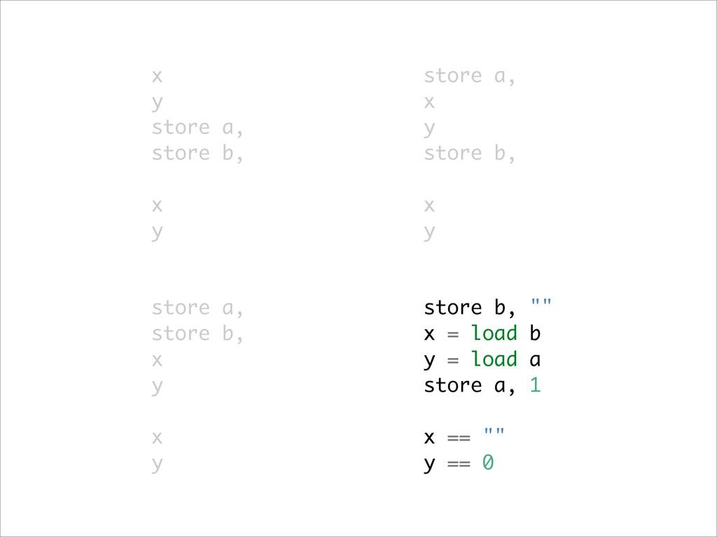 store a, store b, x y ! x y x y store a, store ...