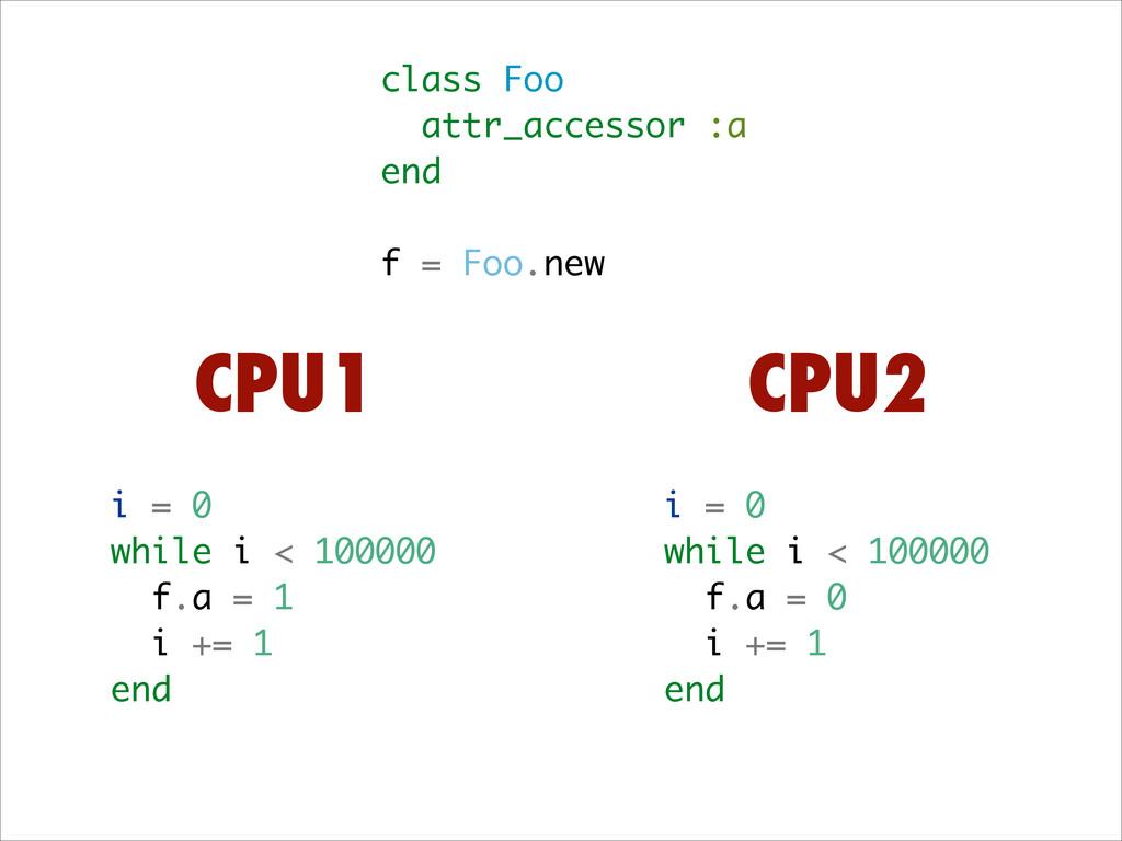 class Foo attr_accessor :a end ! f = Foo.new i ...