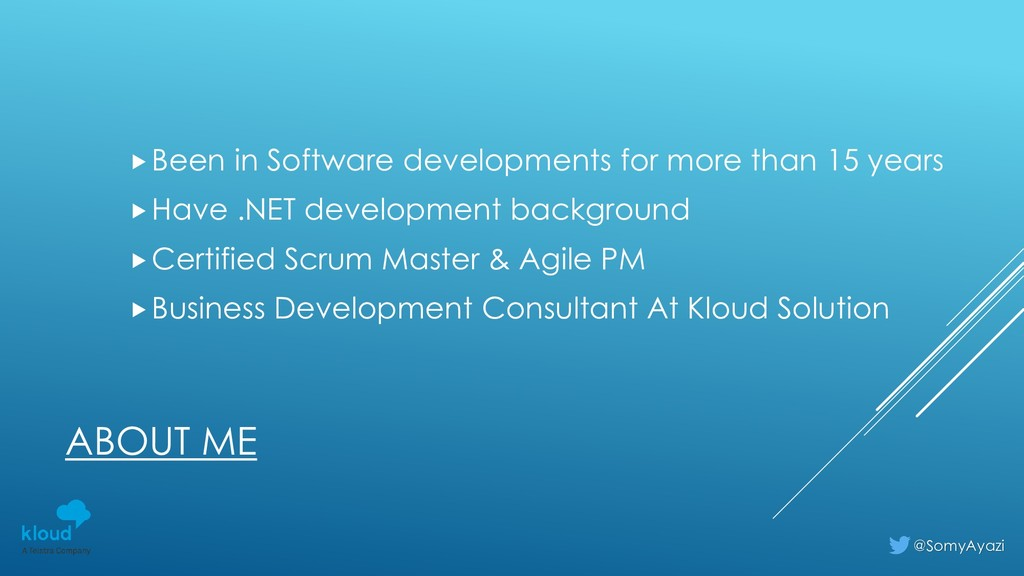 ABOUT ME Been in Software developments for mor...