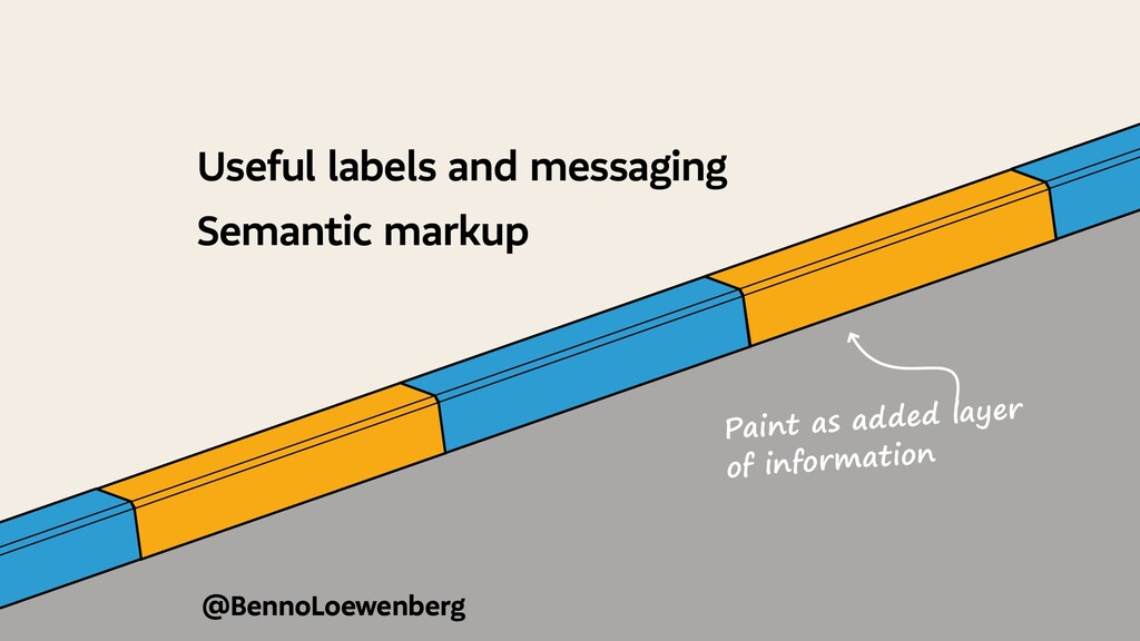 @BennoLoewenberg Useful labels and messaging Se...