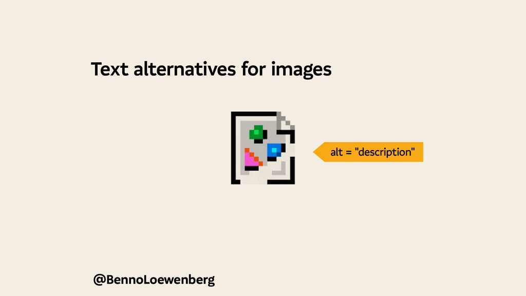 Text alternatives for images @BennoLoewenberg a...