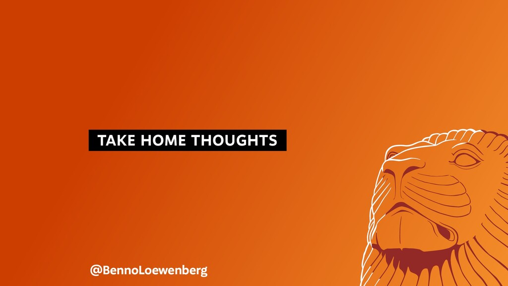TAKE HOME THOUGHTS @BennoLoewenberg
