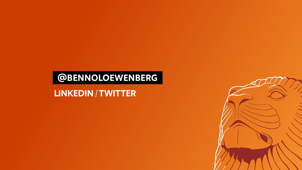 @BENNOLOEWENBERG LINKEDIN/TWITTER