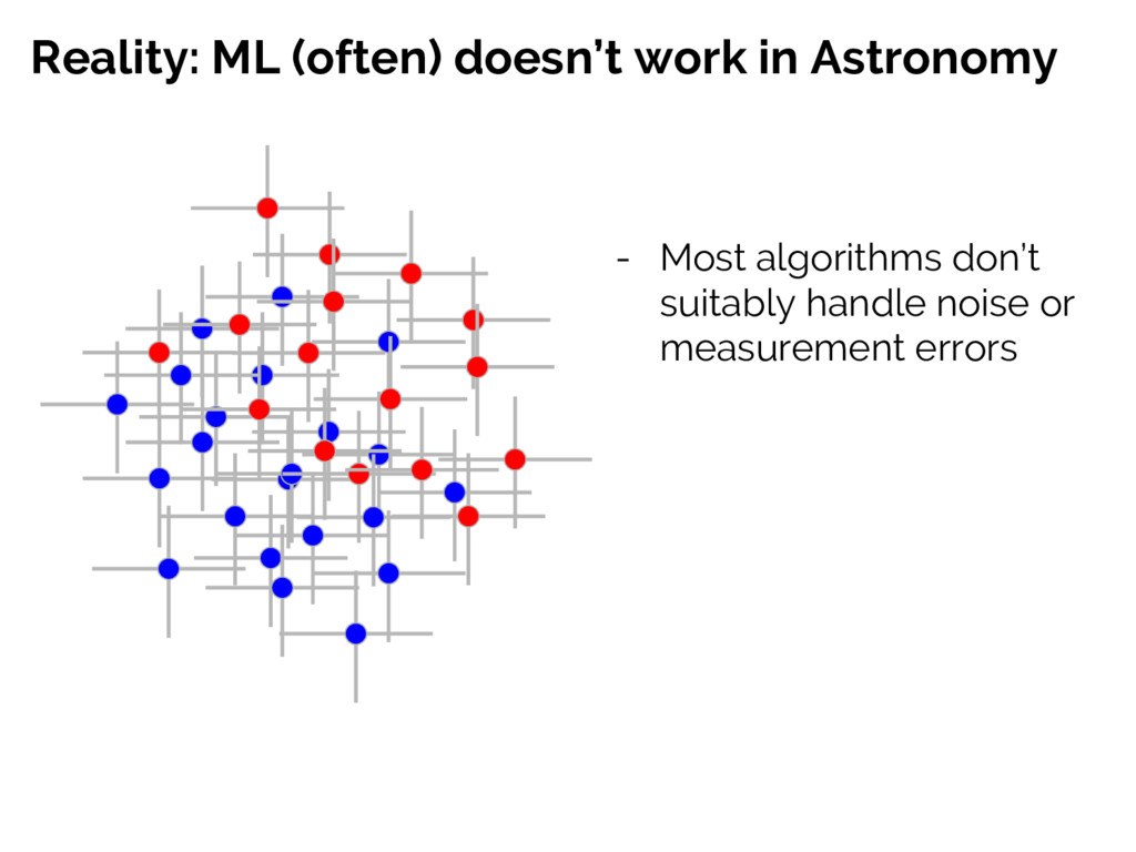 Reality: ML (often) doesn't work in Astronomy -...