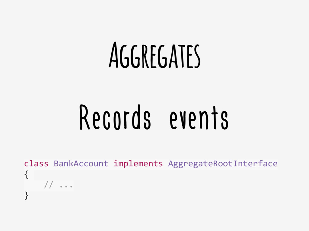 Records events Aggregates class	