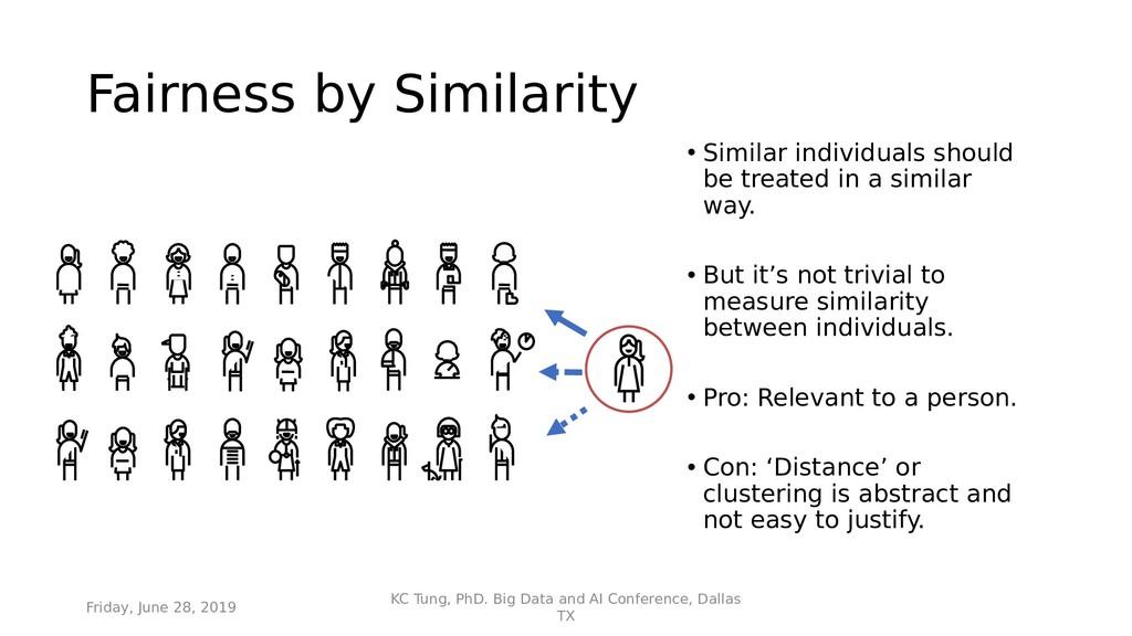 Fairness by Similarity • Similar individuals sh...