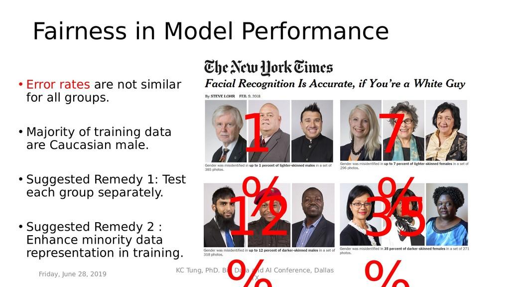 Fairness in Model Performance • Error rates are...