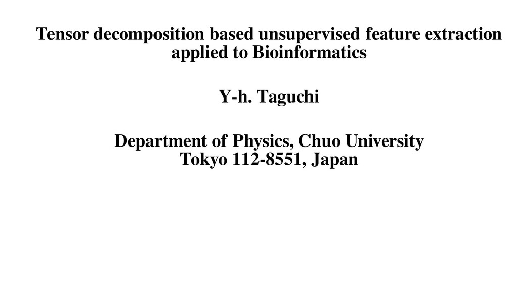 Tensor decomposition based unsupervised feature...