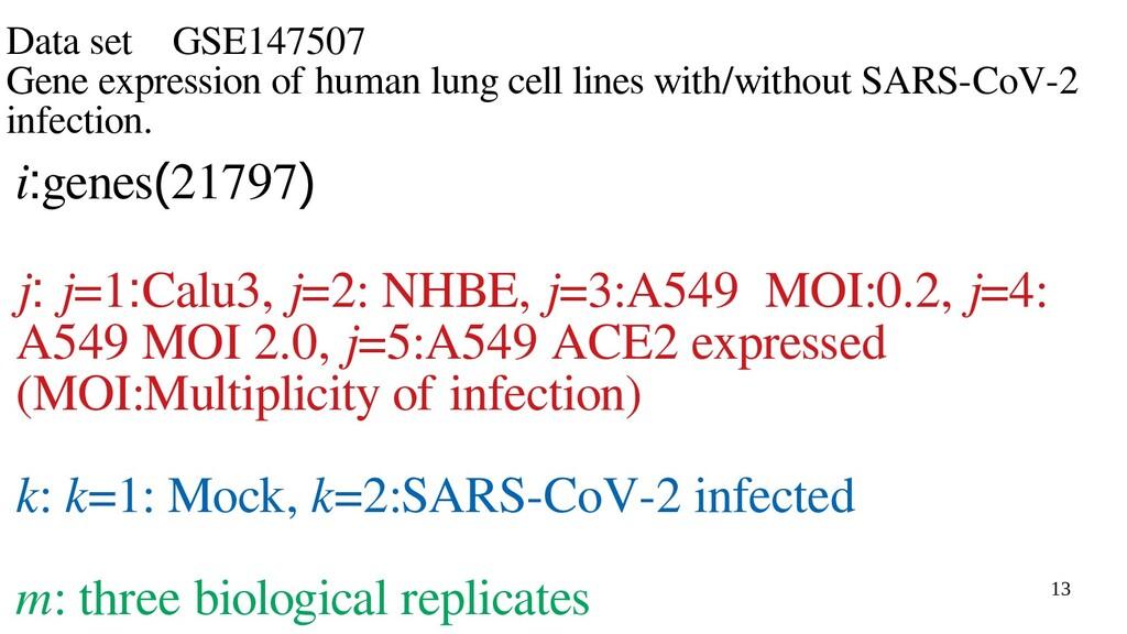 13 Data set GSE147507 Gene expression of human ...