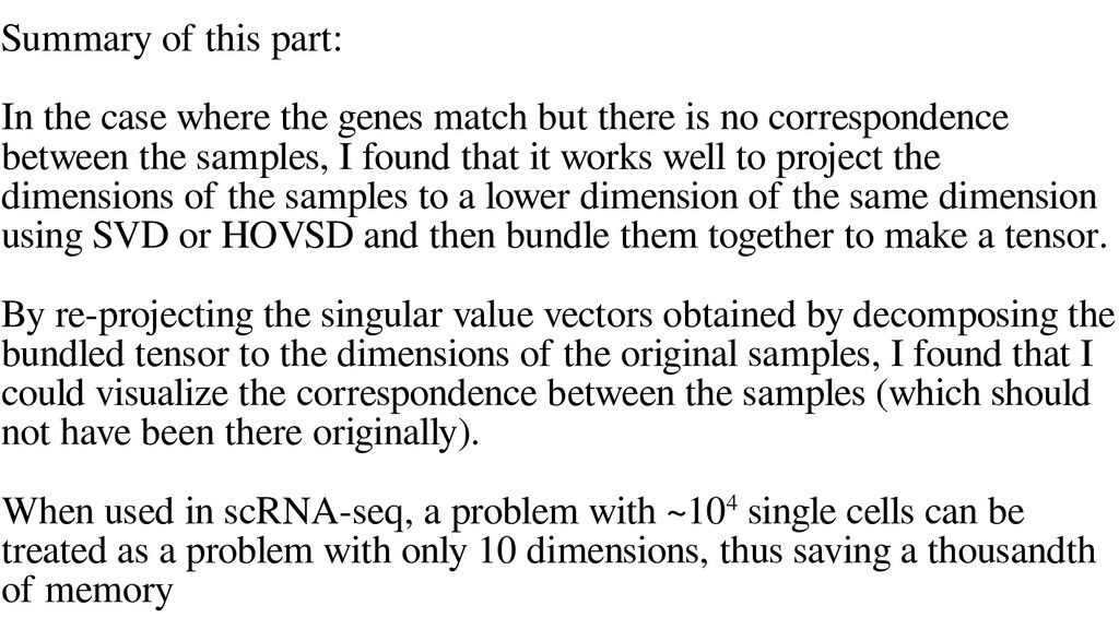 Summary of this part: In the case where the gen...