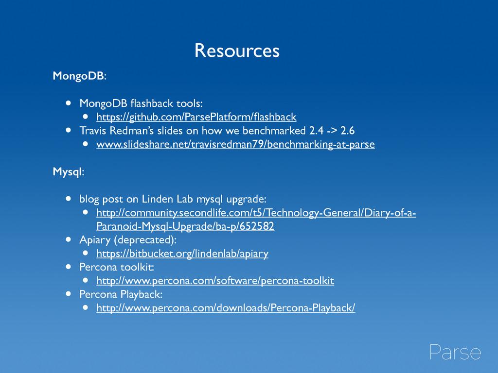 MongoDB:  ! • MongoDB flashback tools:  • ht...