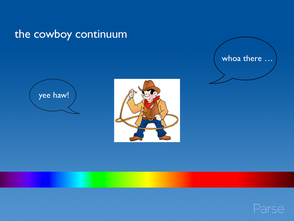 the cowboy continuum yee haw! whoa there …