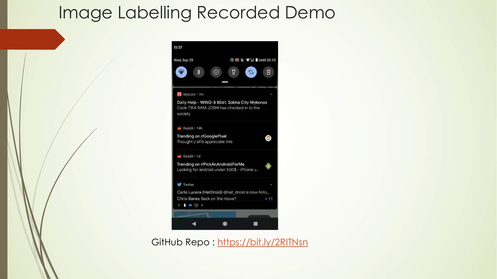 Image Labelling Recorded Demo GitHub Repo : htt...