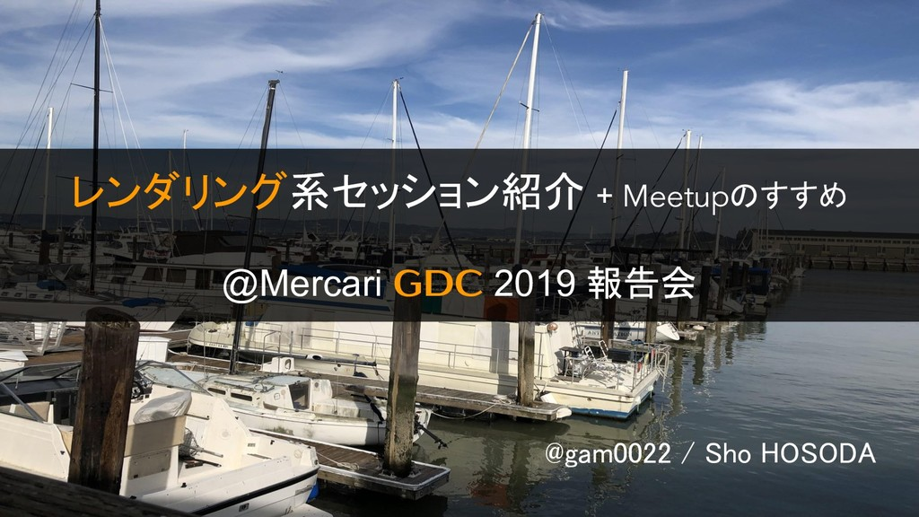 @gam0022 / Sho HOSODA レンダリング系セッション紹介 + Meetupのす...