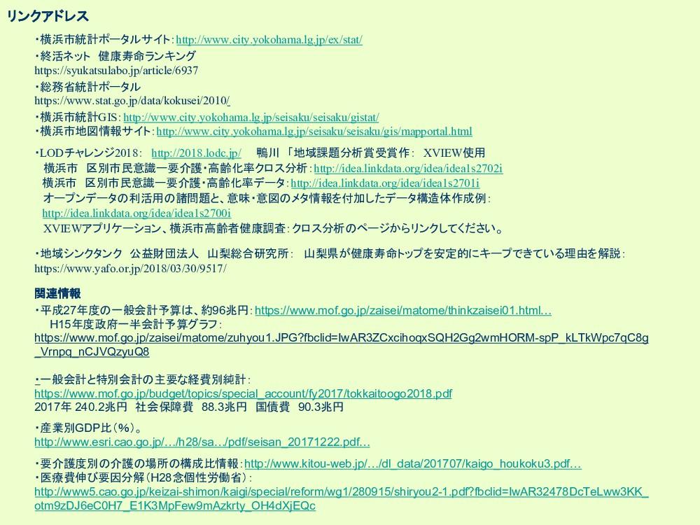 リンクアドレス ・横浜市統計ポータルサイト:http://www.city.yokohama....