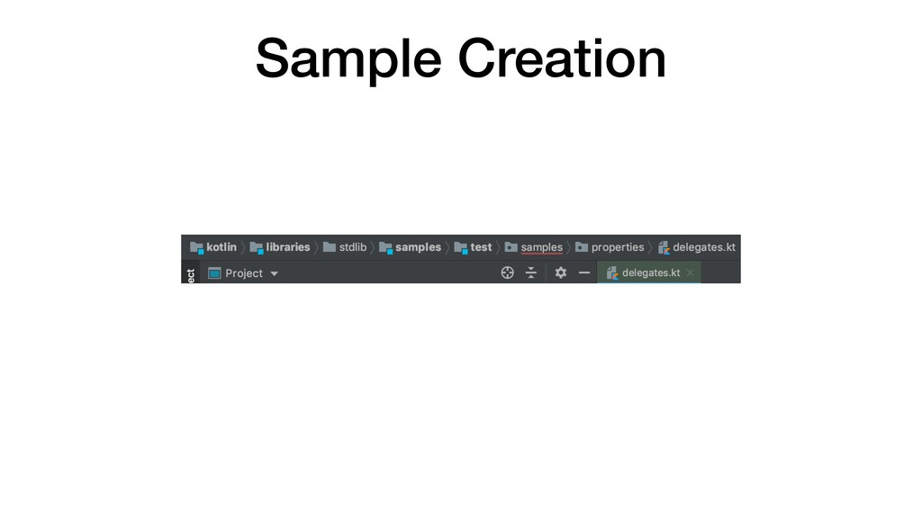 Sample Creation