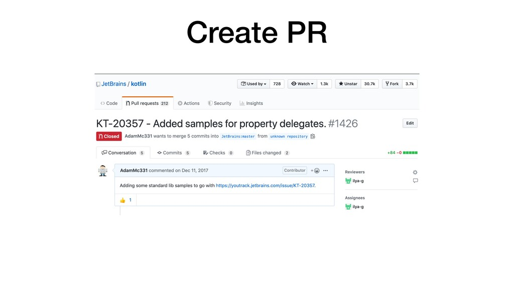 Create PR
