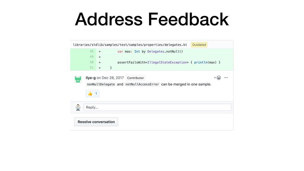 Address Feedback