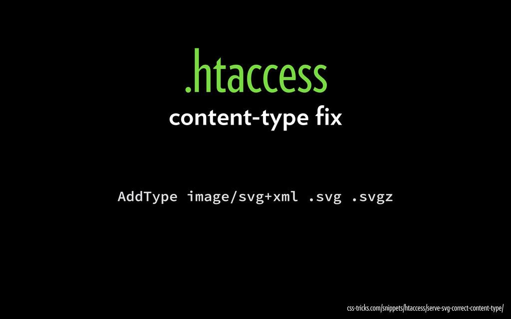 AddType image/svg+xml .svg .svgz .htaccess css-...