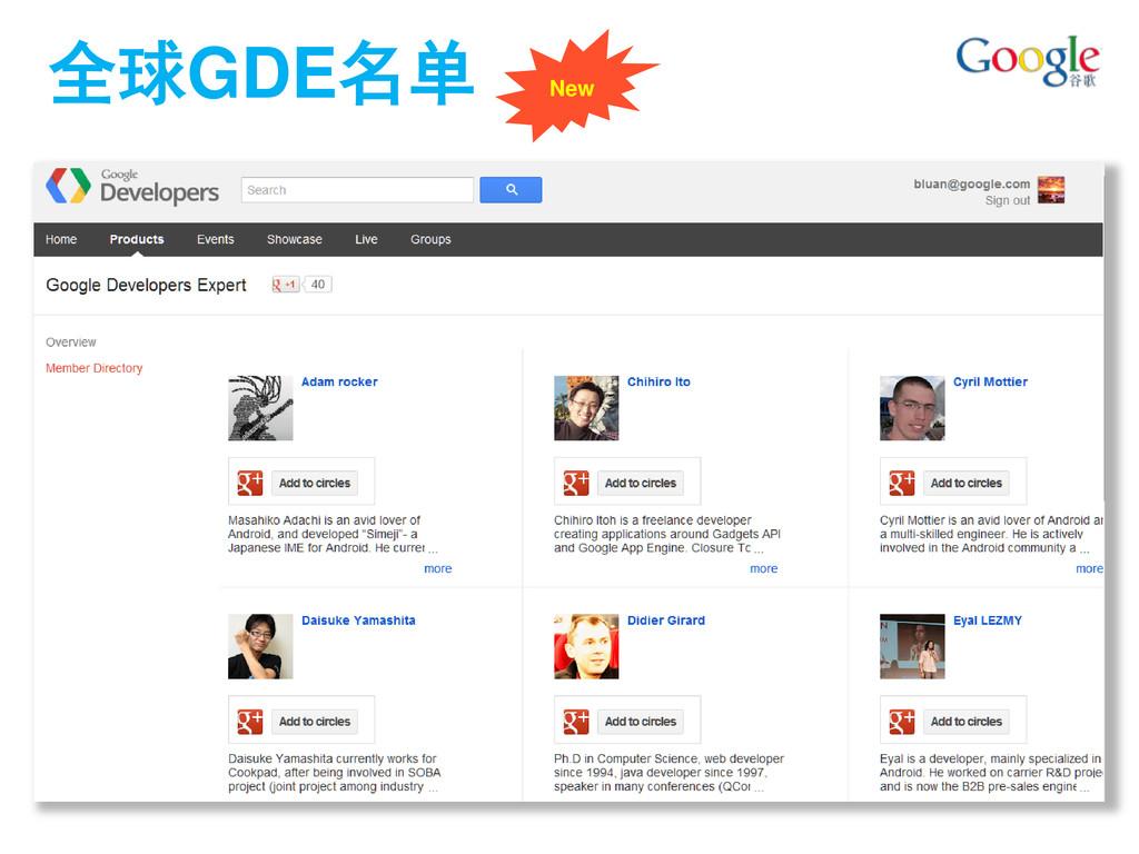 全球GDE名单 New