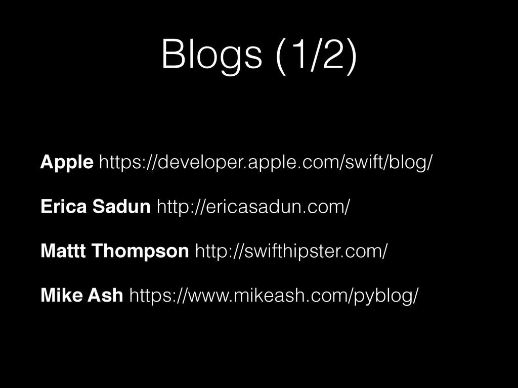 Blogs (1/2) Apple https://developer.apple.com/s...
