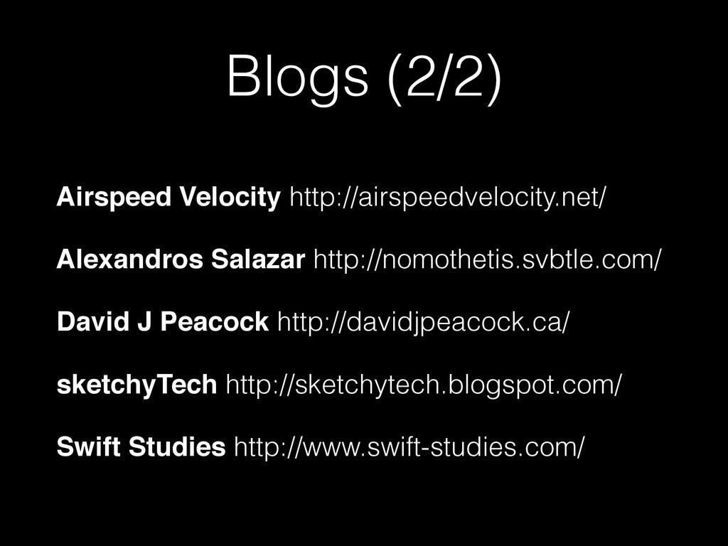 Blogs (2/2) Airspeed Velocity http://airspeedve...