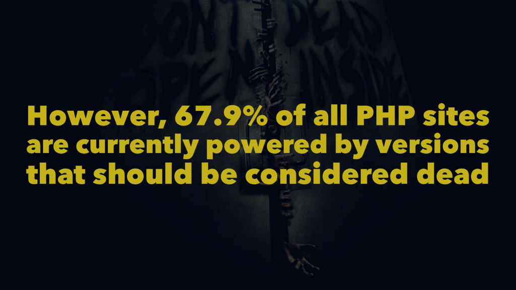 However, 67.9% of all PHP sites are currently p...