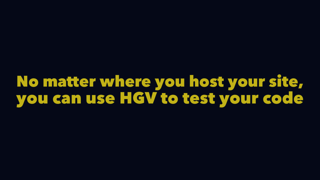 No matter where you host your site, you can use...