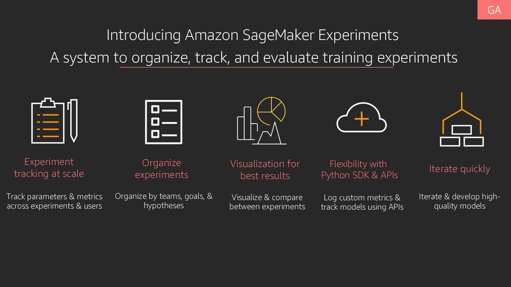 Introducing Amazon SageMaker Experiments Experi...