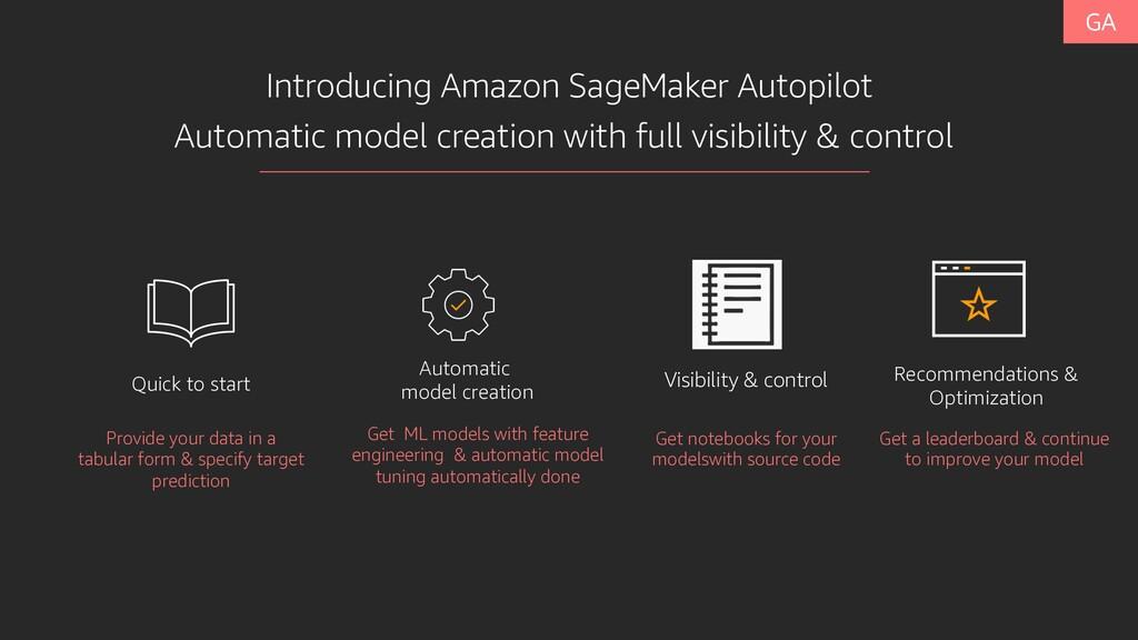 Introducing Amazon SageMaker Autopilot Quick to...