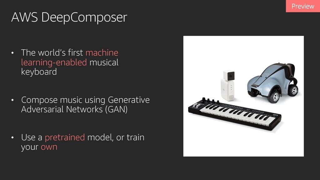 AWS DeepComposer • The world's first machine le...