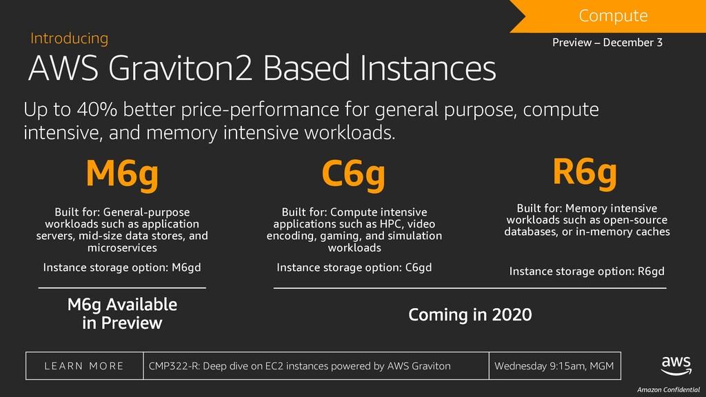 Amazon Confidential AWS Graviton2 Based Instanc...