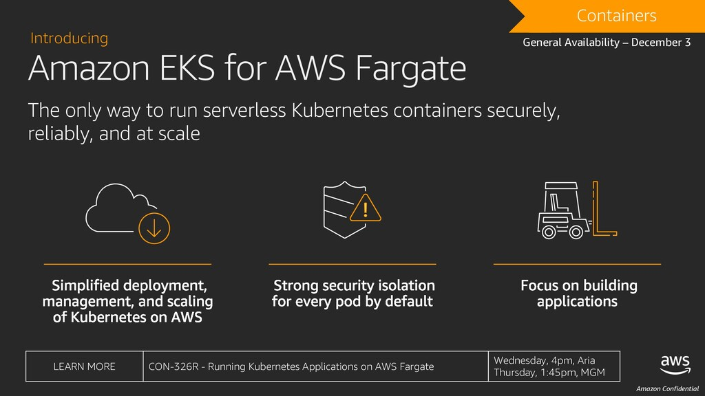 Amazon Confidential DRAFT Containers General Av...