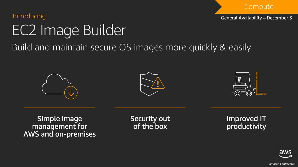 Amazon Confidential Build and maintain secure O...